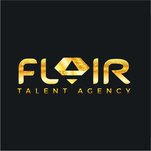 Flair Talent Agency Logo Design